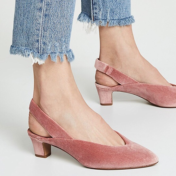 97a8655747e Madewell Shoes - Madewell Etta Slingback Pump in Velvet